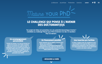 LE CHALLENGE MATURE YOUR PhD